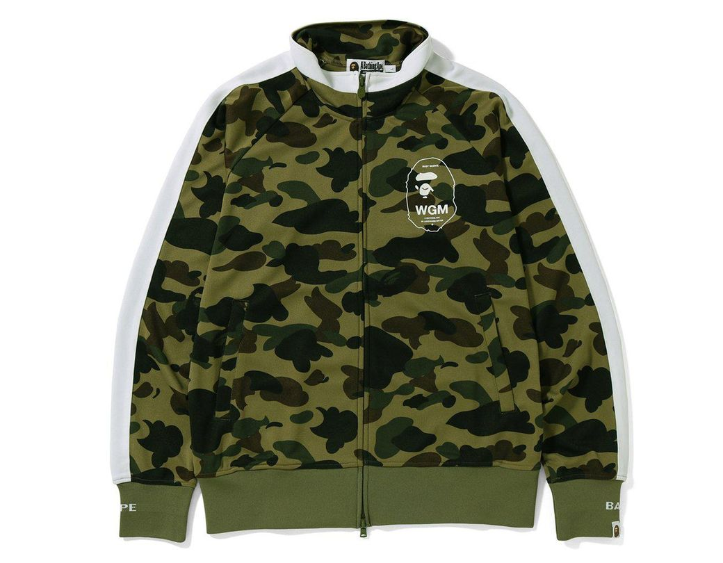 35208643 Lyst - A Bathing Ape 1st Camo Line Jersey Top Green in Green for Men