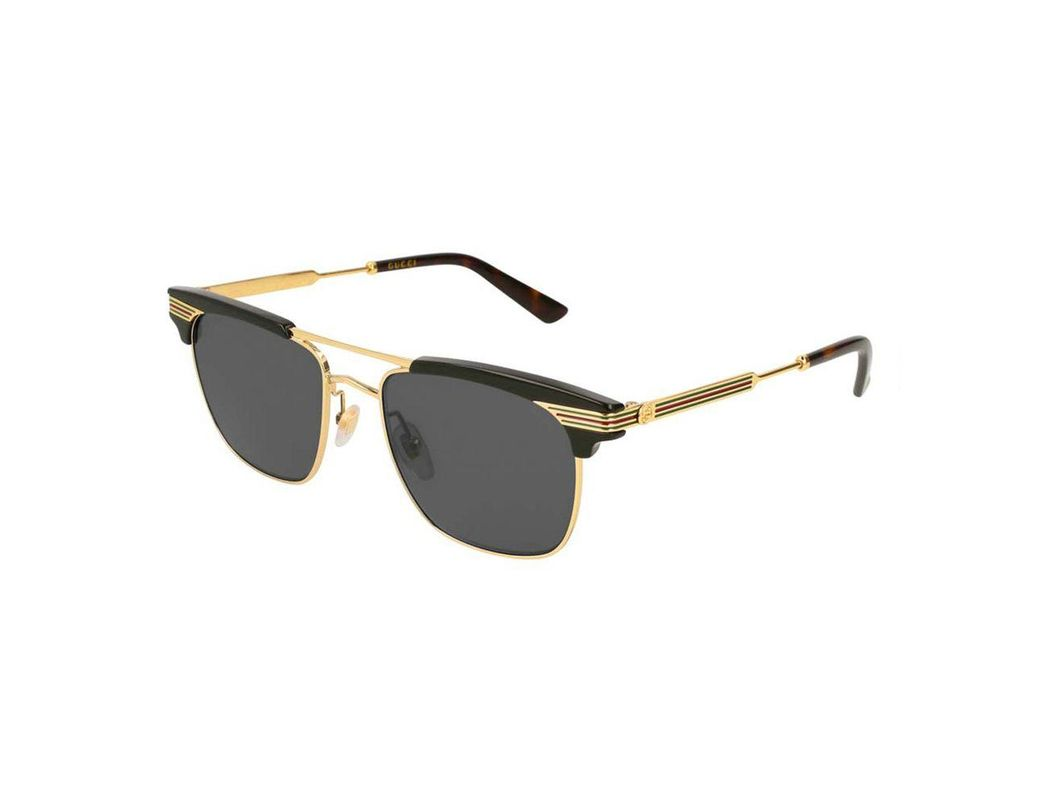 18b12b5586c5 Gucci Black Acetate GG0287S-001 Top Frame Square Sunglasses in Black ...