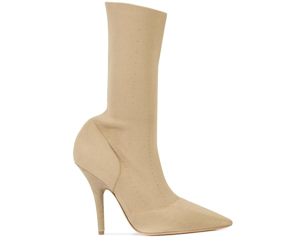 d75d0f41b2a0 Lyst - Yeezy Knit Ankle Boots in Natural - Save 30%