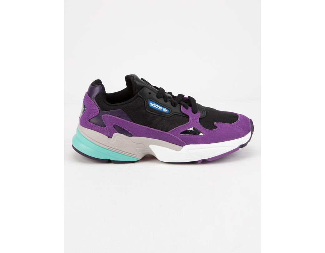 418d25d70b64b Lyst - adidas Falcon Lace-up Leather Running Sneakers in Purple ...