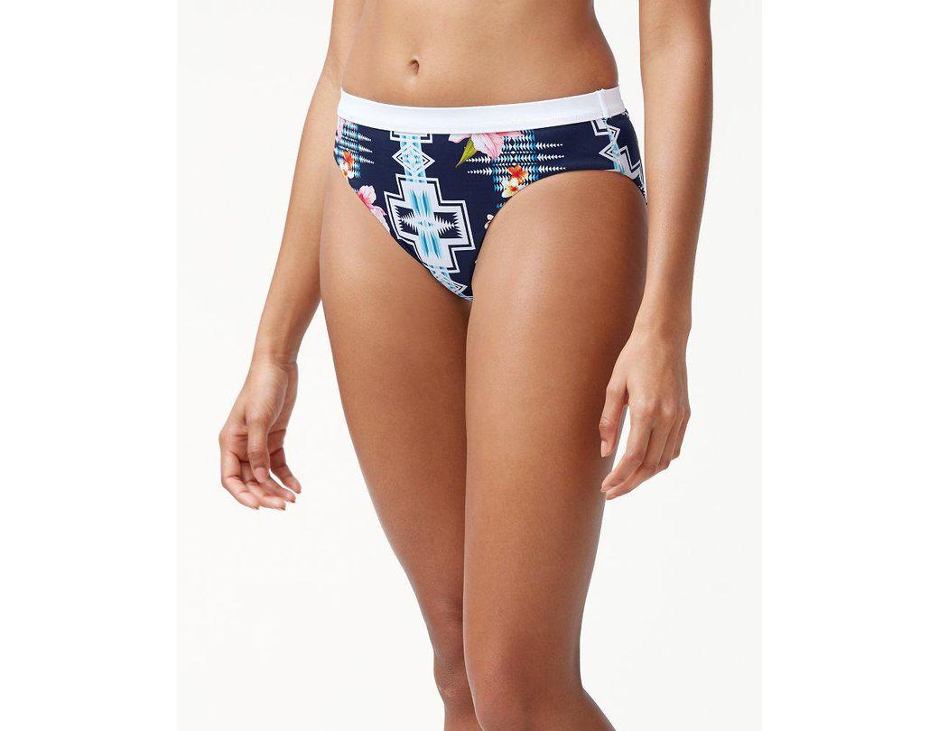 173dc16e70b Tommy Bahama. Women s Blue   Pendleton® Islandactive® Reversible High-waist  Bikini Bottoms