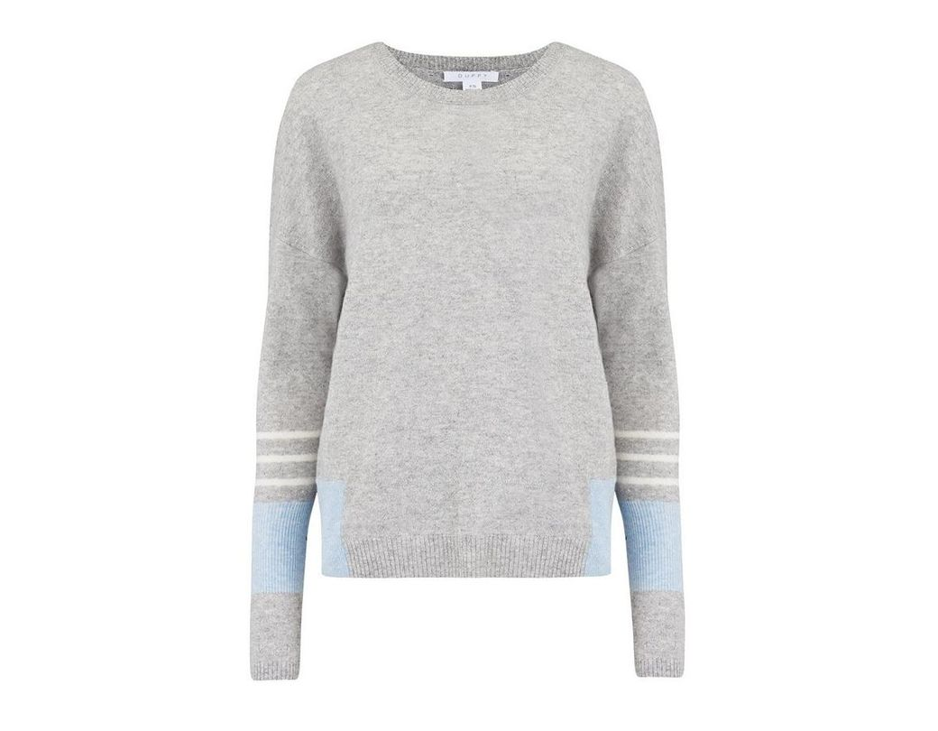 b441770beacfa0 Duffy Linen Cashmere Jumper In Brume, Indigo And White in Gray - Lyst