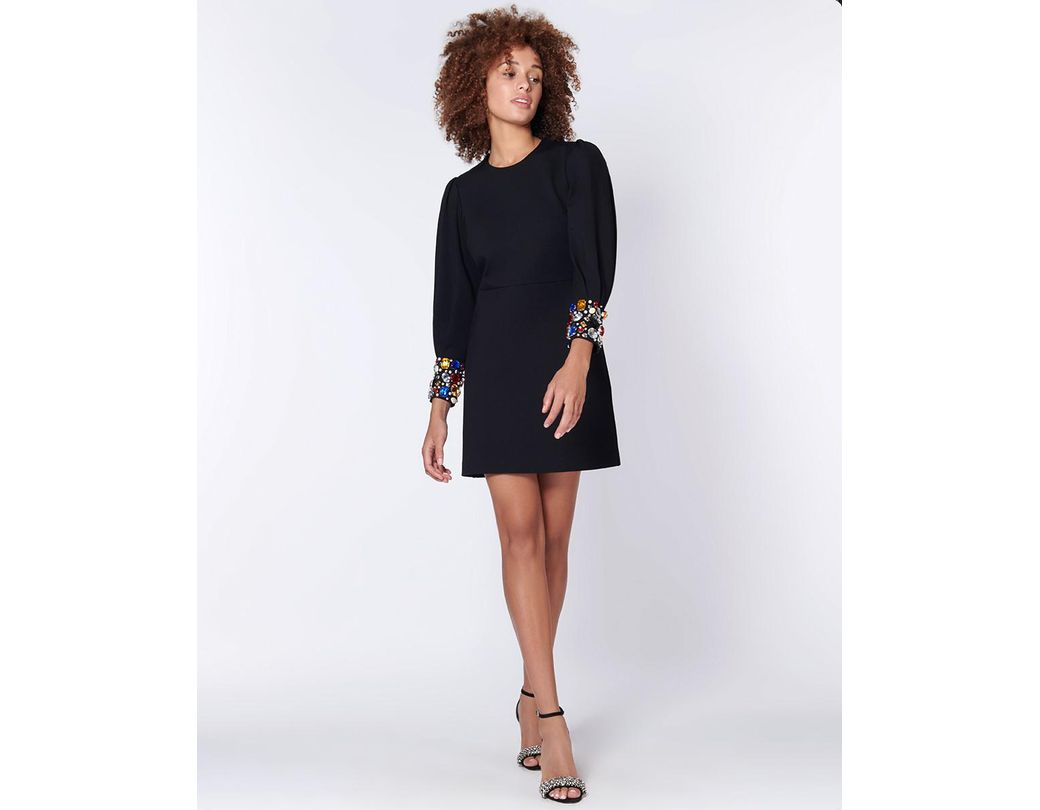 6373632537a Veronica Beard Amery Embellished Jersey Dress in Black - Save 56% - Lyst