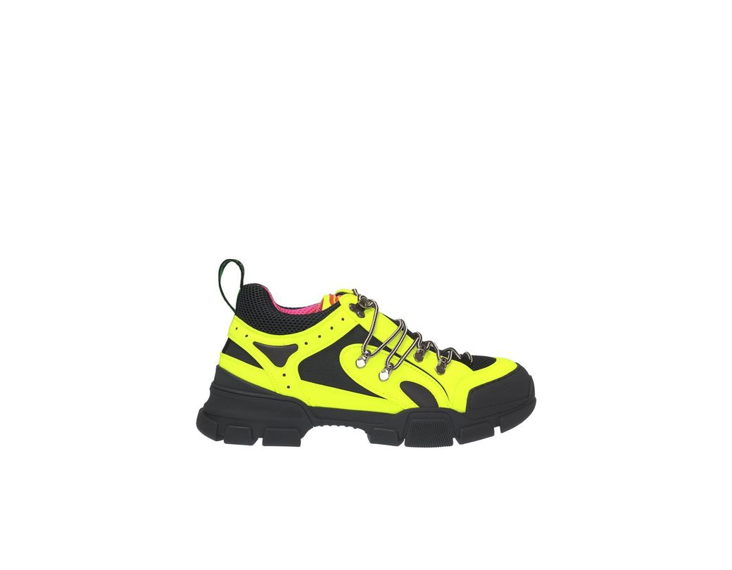 28b46d9bc11 Lyst - Gucci Flashtrek Sneaker in Yellow for Men - Save 12%