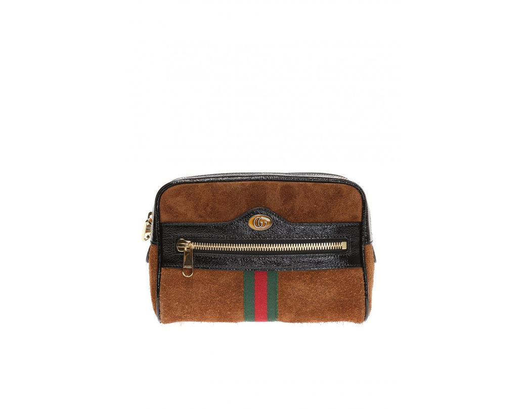 ec6c6470cc6 Lyst - Gucci Ophidia Small Belt Bag in Brown - Save 28%