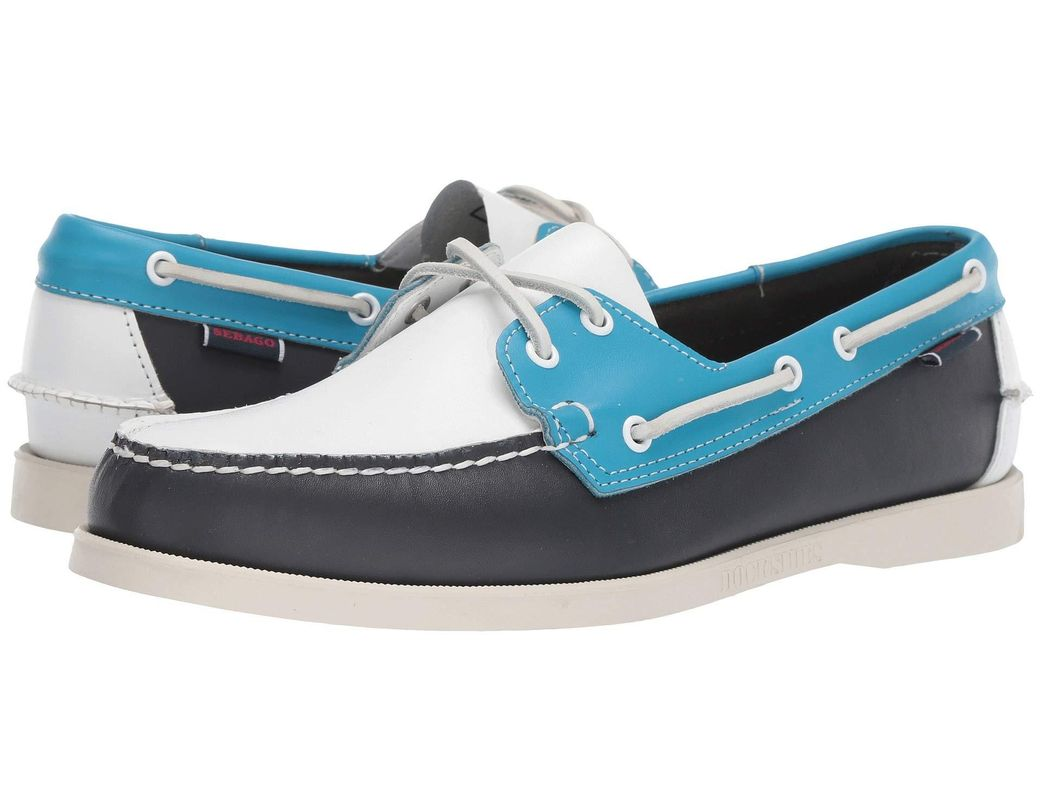 c5acb1451e5 Sebago. Dockside Portland Spinnaker (navy light Blue white) Men s Shoes