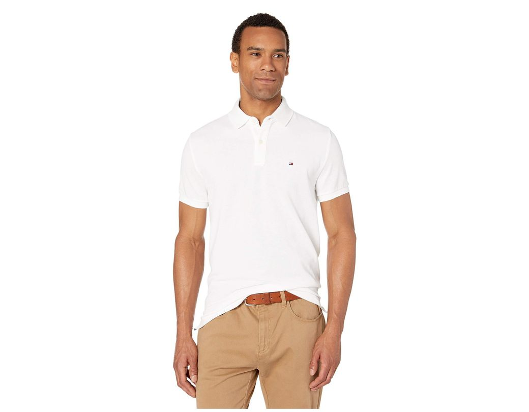 2049f793 Lyst - Tommy Hilfiger Ivy Polo Shirt Custom Fit (bright White) Men's ...
