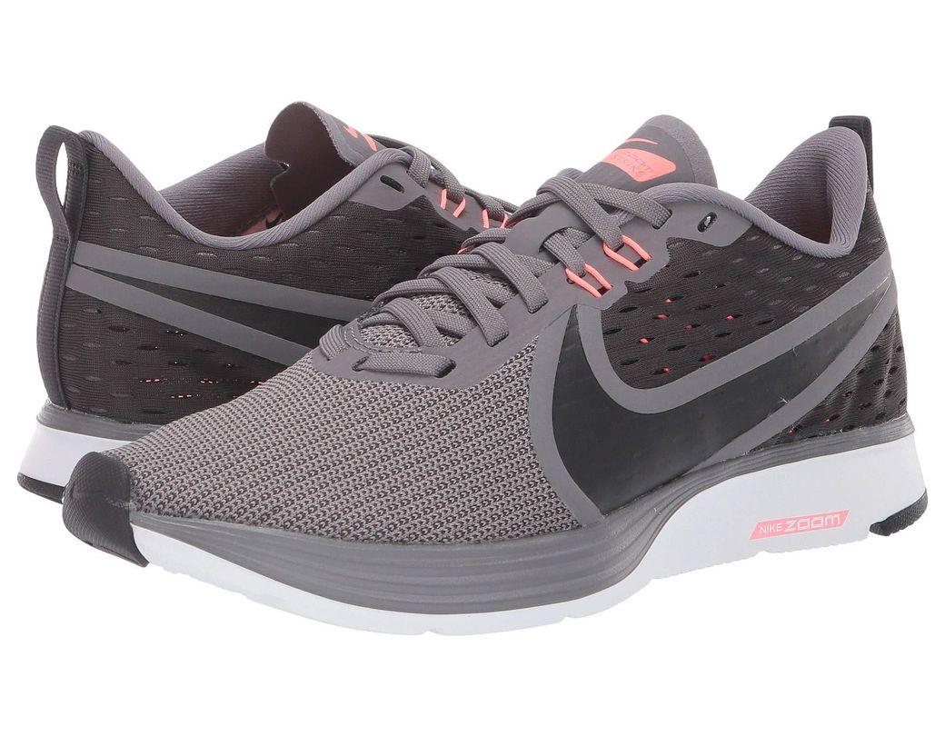 f30db5970aa3 Lyst - Nike Zoom Strike 2 (black anthracite white) Women s Running ...