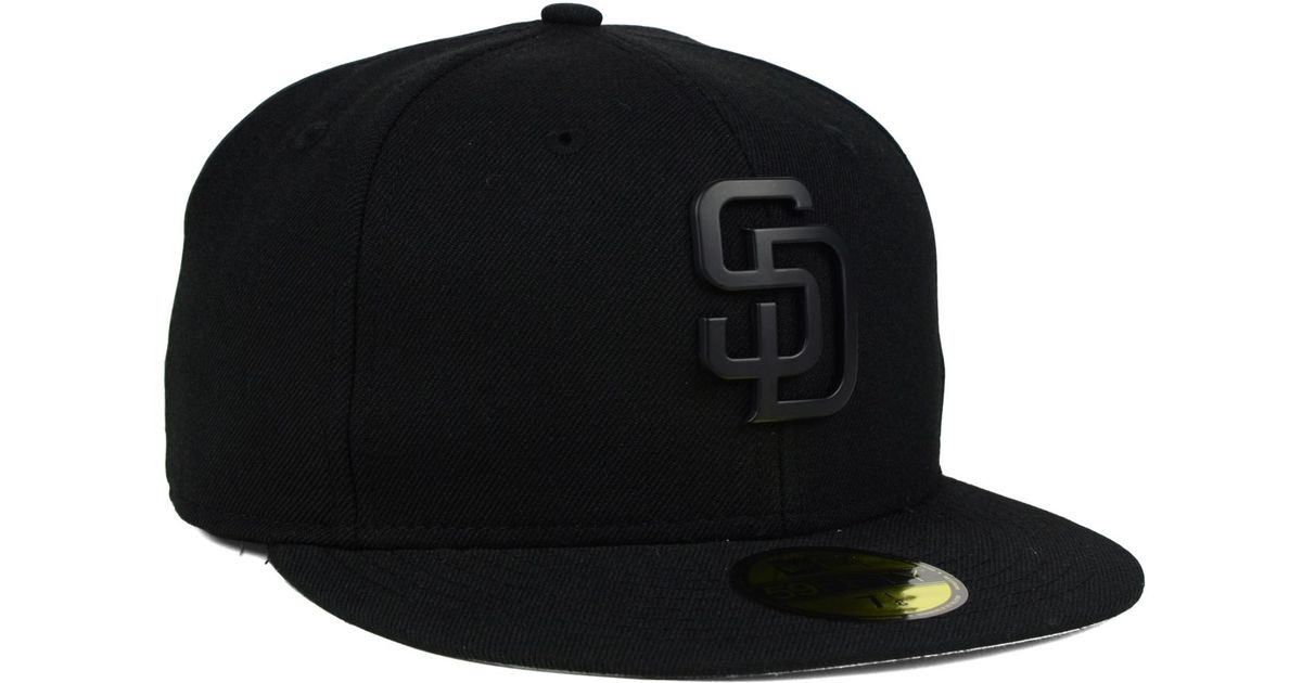 b6b88448f7042 KTZ San Diego Padres Matte Metal 59fifty Cap in Black for Men - Lyst