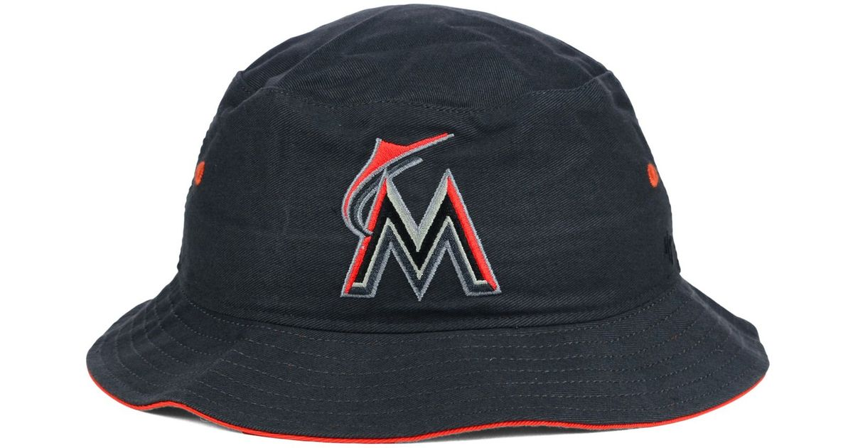 ... reduced lyst 47 brand miami marlins turbo bucket hat in gray cd671  b1289 australia fashion miami marlins mlb ... 947c45a52386