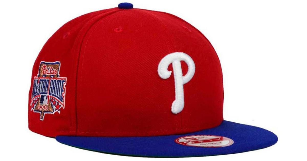 679b8b3dbe952 Lyst - KTZ Philadelphia Phillies All Star Patch 9fifty Snapback Cap in Red  for Men