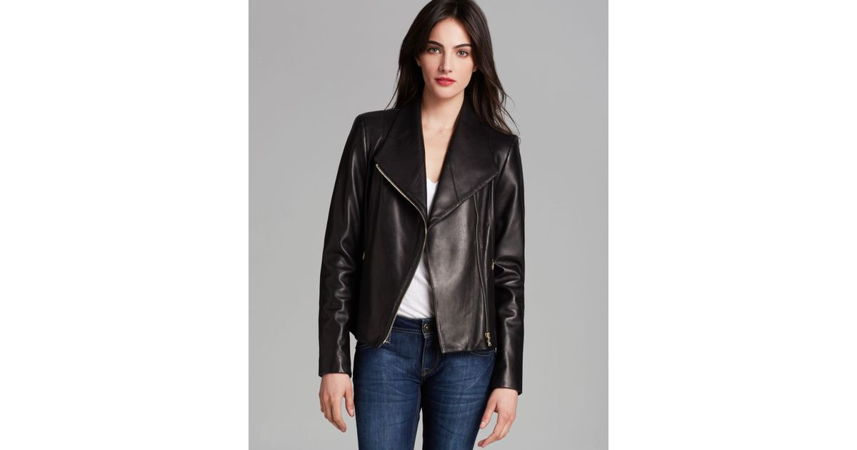 Calvin Klein Black Leather Jacket With Zippers - Equata.Org The Best ... 9aa0be61f