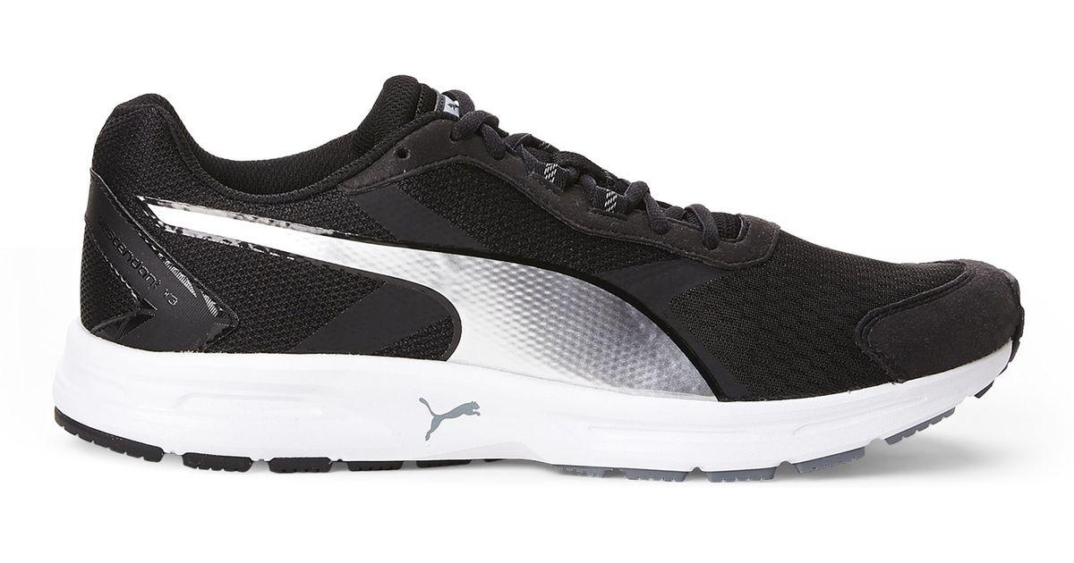 7ffb001328bd07 Lyst - PUMA Black   Silver Descendant V3 Running Sneakers in Black for Men