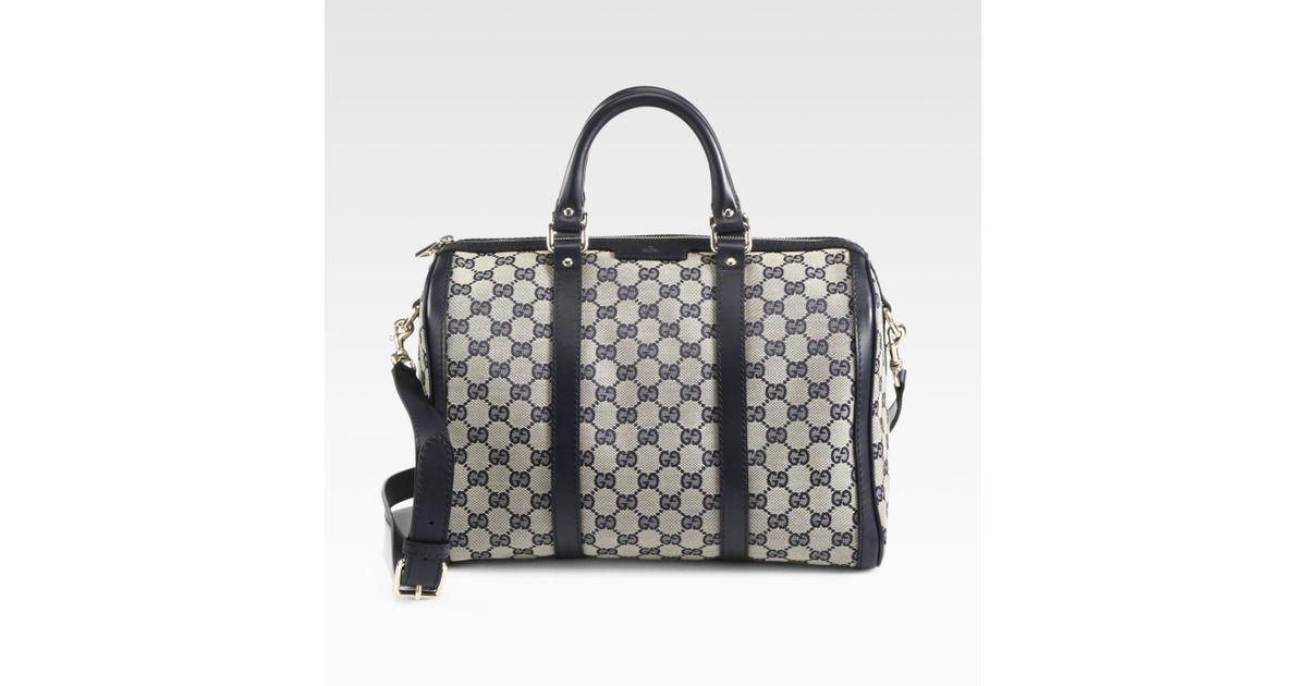 11e652feba Lyst - Gucci Vintage Web Original Gg Canvas Boston Bag in Gray