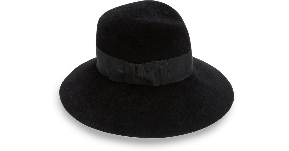 5812b343cd1 Lyst - Eric Javits Tiffany Rabbit Fur Floppy-Brim Hat in Black