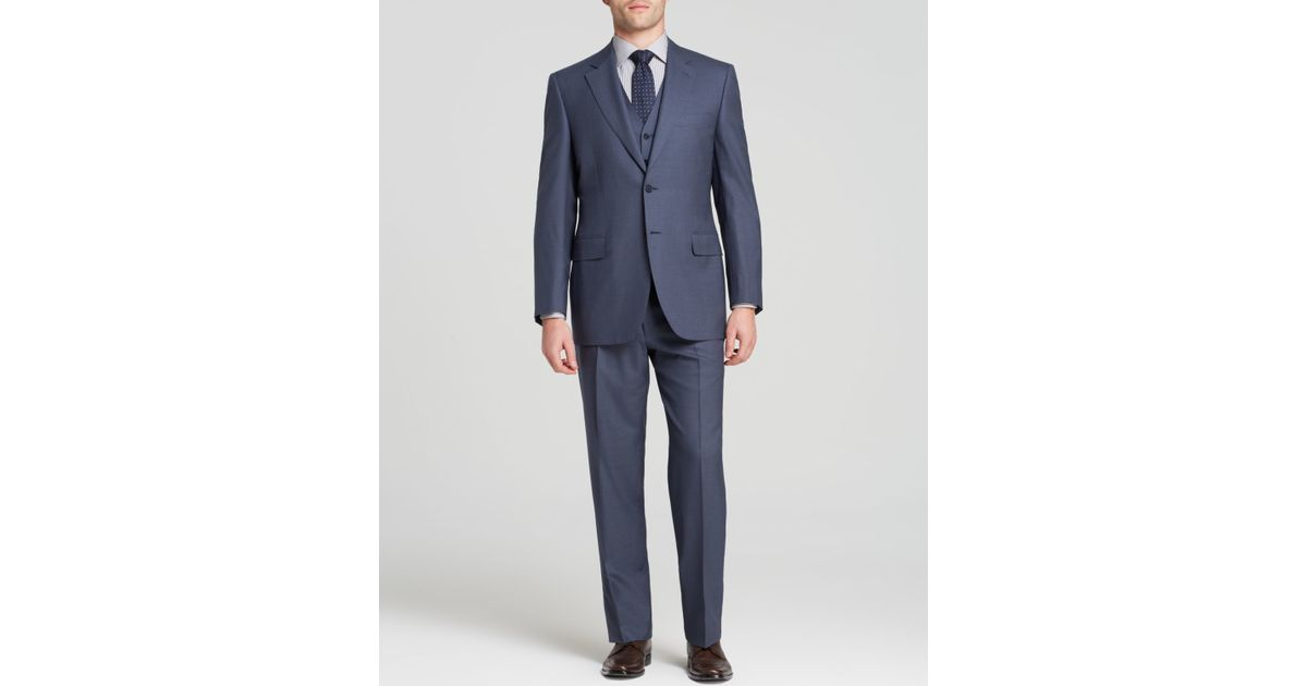Canali Solid Super 120s Three-piece Suit - Classic Fit