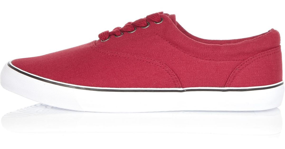 river island canvas plimsolls in for lyst