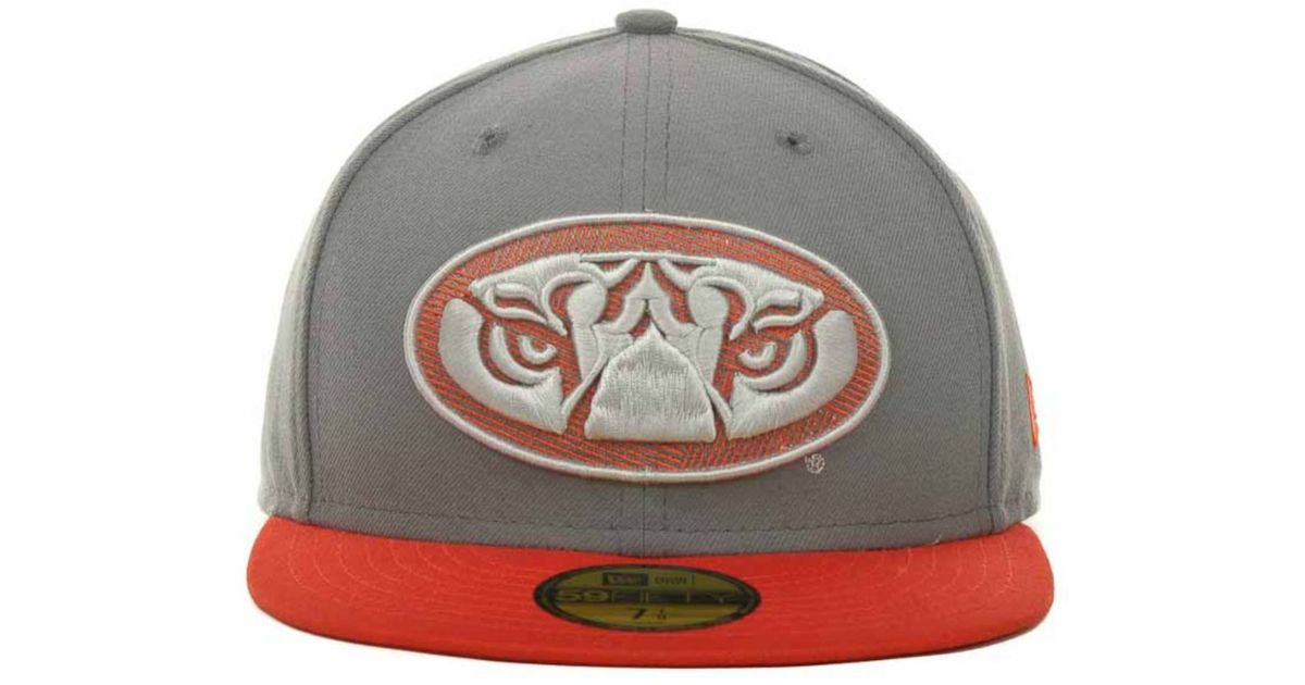Lyst - Ktz Auburn Tigers High Risk 59fifty Cap in Gray for Men 23fed6866115