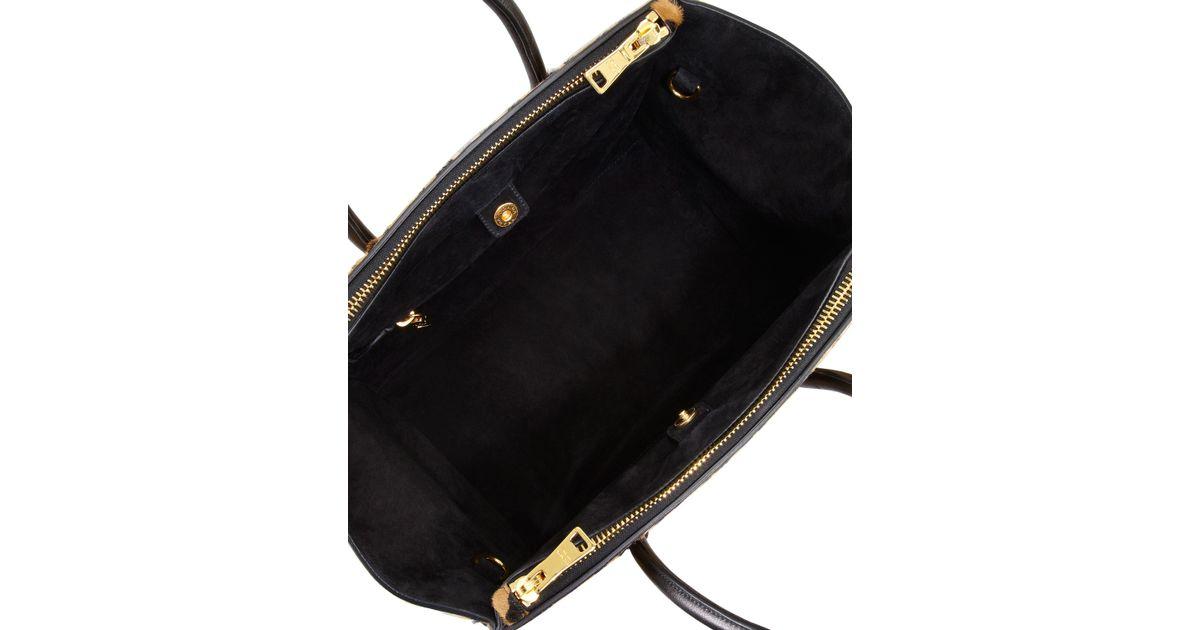 6229dbe033a7 Lyst - Prada Cavallino Calf Hair Twin-Pocket Tote Bag in Brown