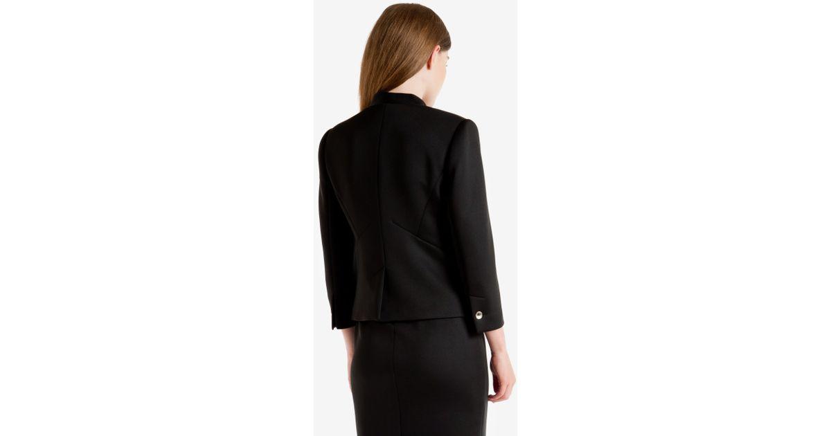 0dc79b18e1b26 Lyst - Ted Baker Neoprene Suit Jacket in Black