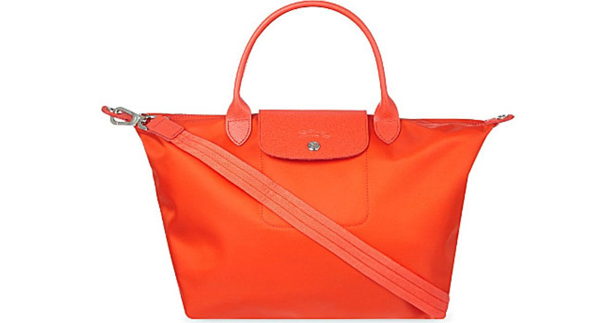 Longchamp Le Pliage Medium Neo Shopper - For Women in Orange - Lyst e389b9927b250