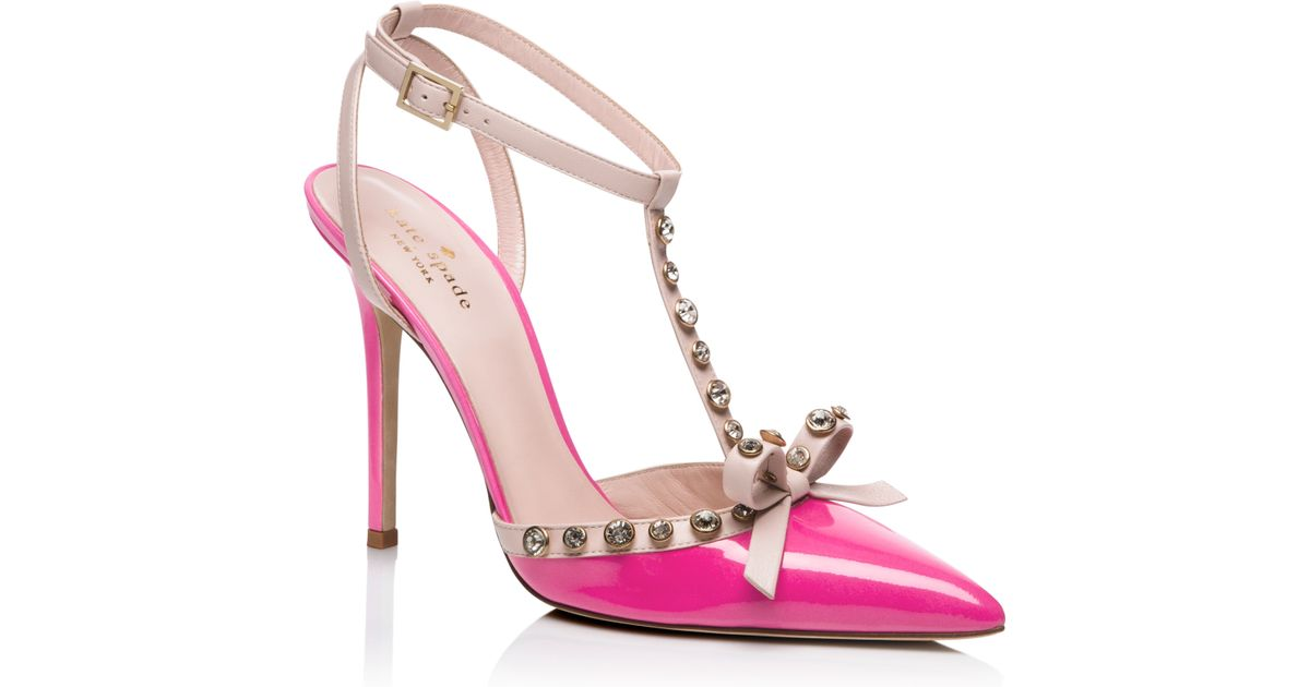 01d161fb3e06 Lyst - Kate Spade Lydia Heels in Pink