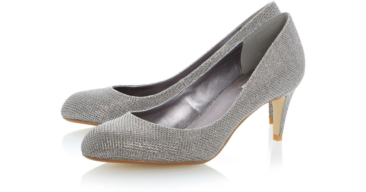 Round Stiletto Toe Glitter Gray Court Shoes Lyst Belight Untold H9WIYE2eD