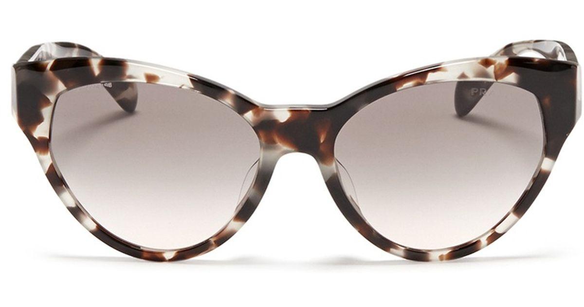 71247f17a18d ... coupon code for lyst prada tortoiseshell acetate cat eye sunglasses in  brown 409ca 685c4