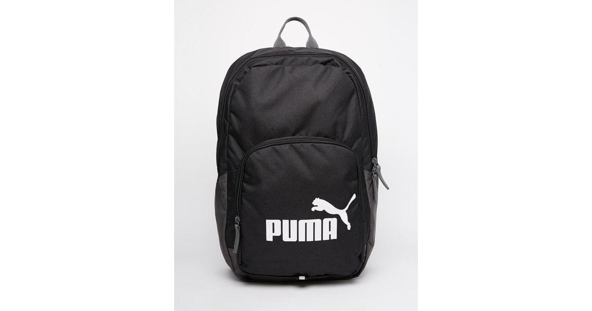 Lyst - PUMA Phase Backpack in Black for Men 7d400c1e6decf