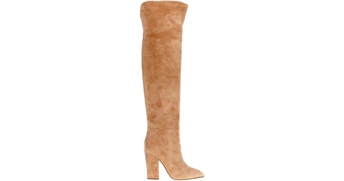 bd9410006f9 Lyst - Sergio Rossi  scarlett  Over-the-knee Boot in Natural