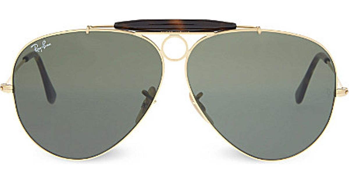Gold Frame Aviator Sunglasses : Ray-ban Rb3138 Gold-toned Frame Aviator Sunglasses in Gray ...