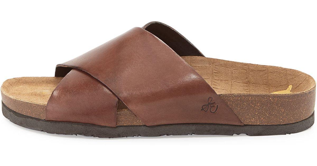 c5935c780137f1 Lyst - Sam Edelman Adora Crisscross Sport Sandal in Brown