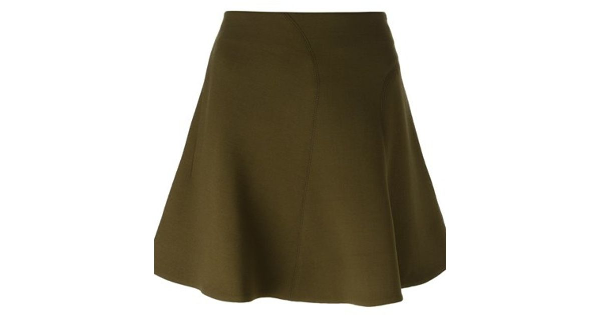 marni a line skirt in green lyst