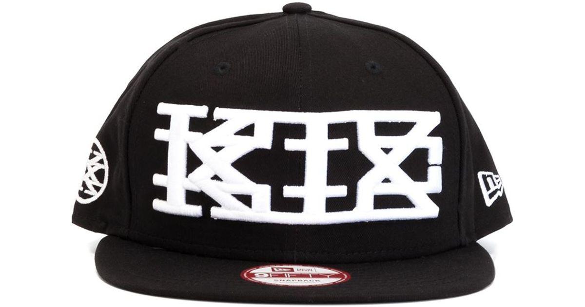 Lyst - Ktz Embroidered Logo Cap in Black for Men 452f402d90c5