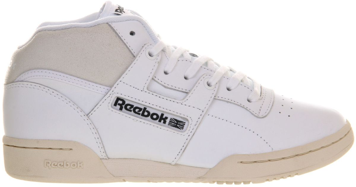 d84a379bdab Reebok Workout Mid in White - Lyst