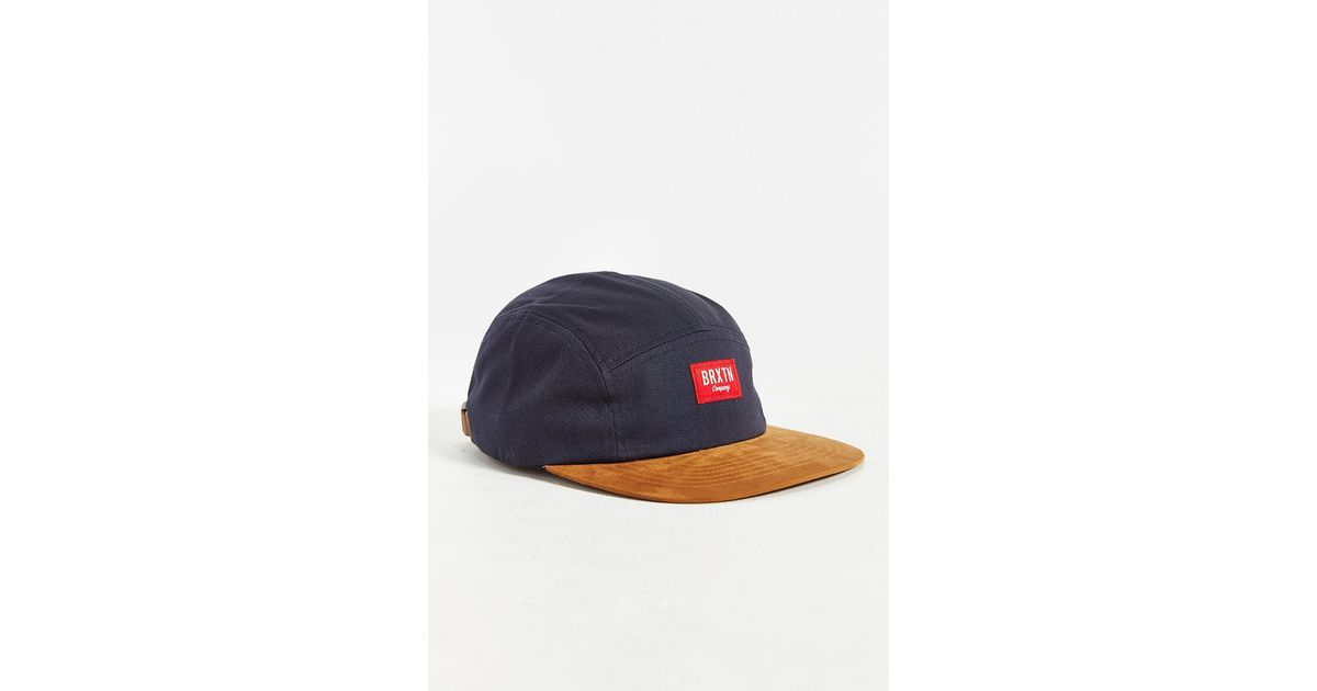 ae6ecf4bfe3 Lyst - Brixton X Uo Finnegan 5-panel Hat in Blue for Men