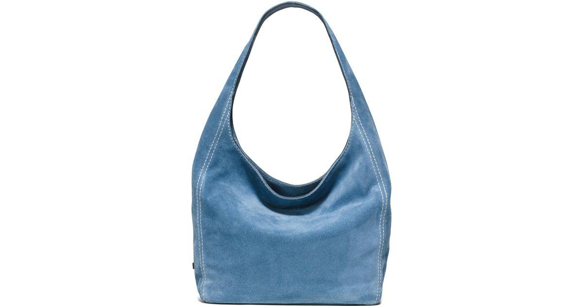 a5ff5d01fc0f Lyst - MICHAEL Michael Kors Lena Large Suede Shoulder Bag in Blue