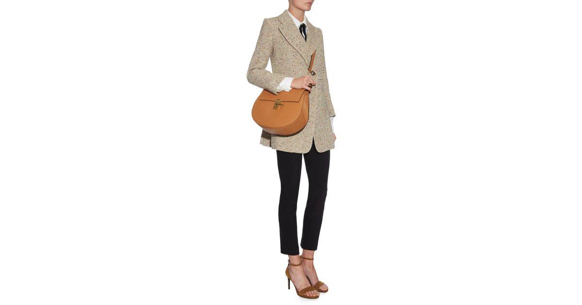 chloe knockoff - Chlo�� Drew Medium Shoulder Bag in Brown (TAN)   Lyst