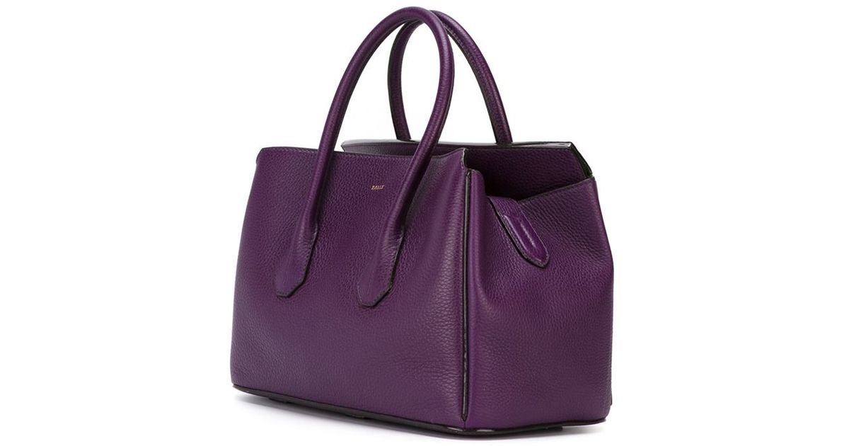 Lyst - Bally Double Handle Tote Bag in Purple 57e8e8bc7bd73