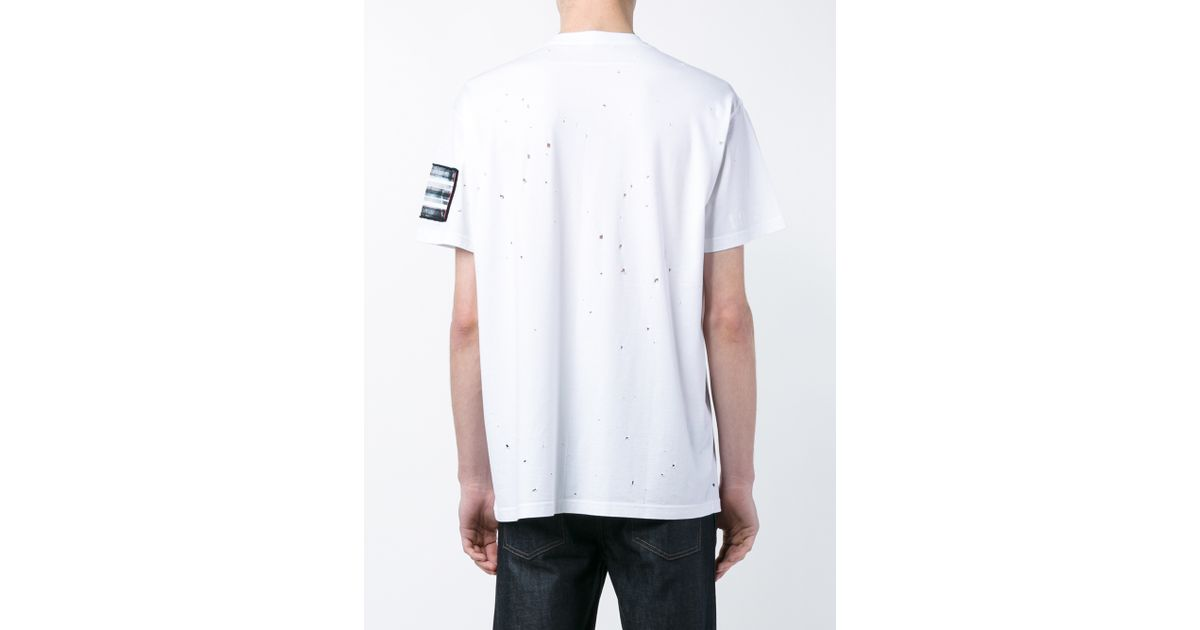 givenchy oversized distressed t shirt in white for men lyst. Black Bedroom Furniture Sets. Home Design Ideas