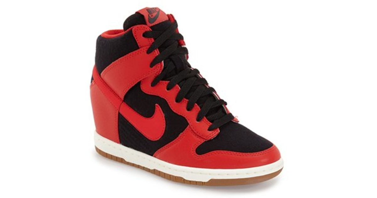 Lyst - Nike dunk Sky Hi - Essential Wedge Sneaker in Black