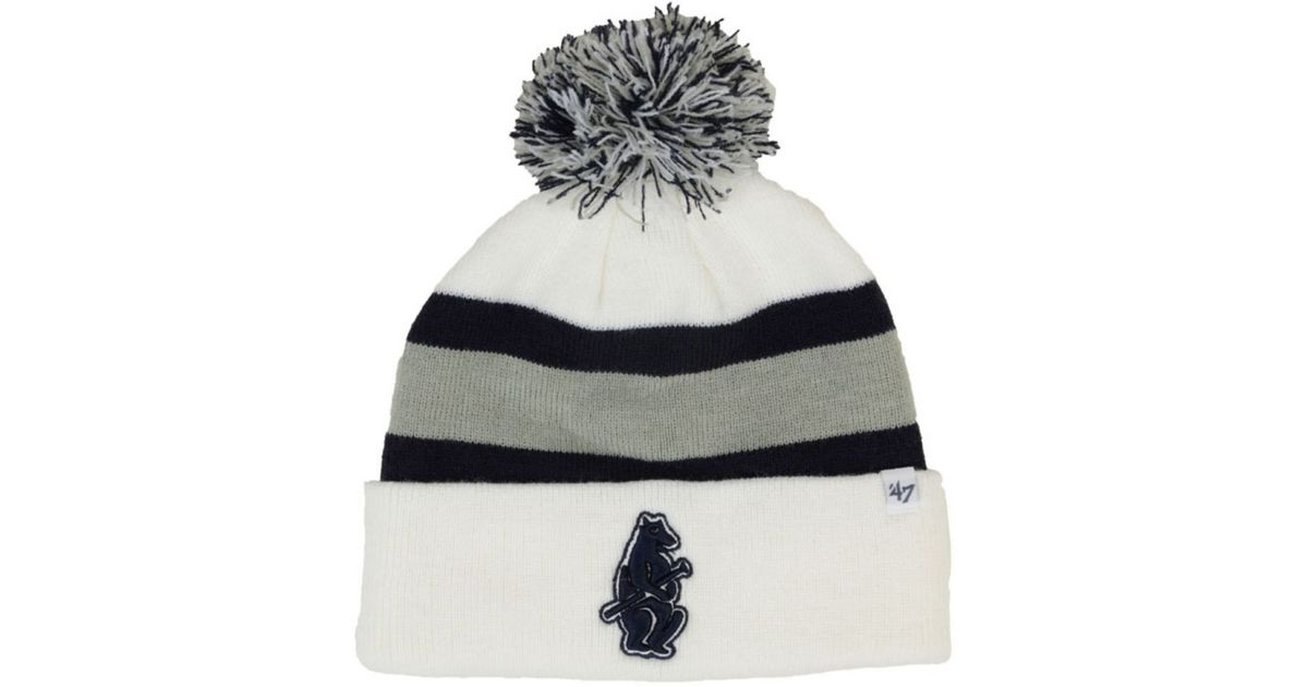 9ac4a51e9a11b3 ... promo code lyst 47 brand chicago cubs breakaway knit hat in white for  men a9ffe dcf2f ...