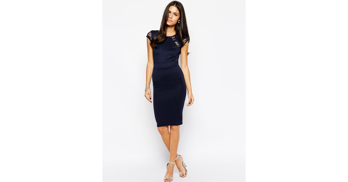 8c92322496 TFNC London - Blue Martha Bodycon Dress - Lyst