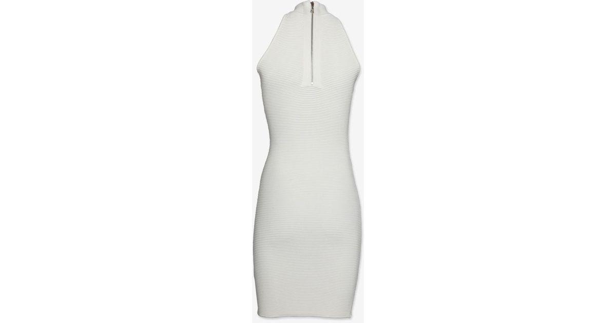 c5d6d0f01ac80 Lyst - Torn By Ronny Kobo Sleeveless Turtleneck Rib Knit Dress in White