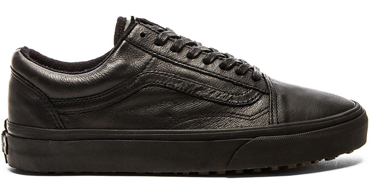 cd4eb07f1feb vans black leather shoes