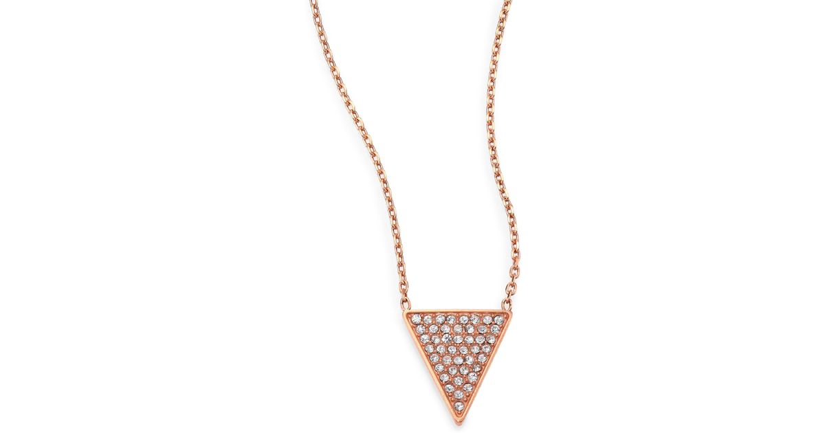 tone kors necklace gold pendant acetate blush rose products alt hr michael and img