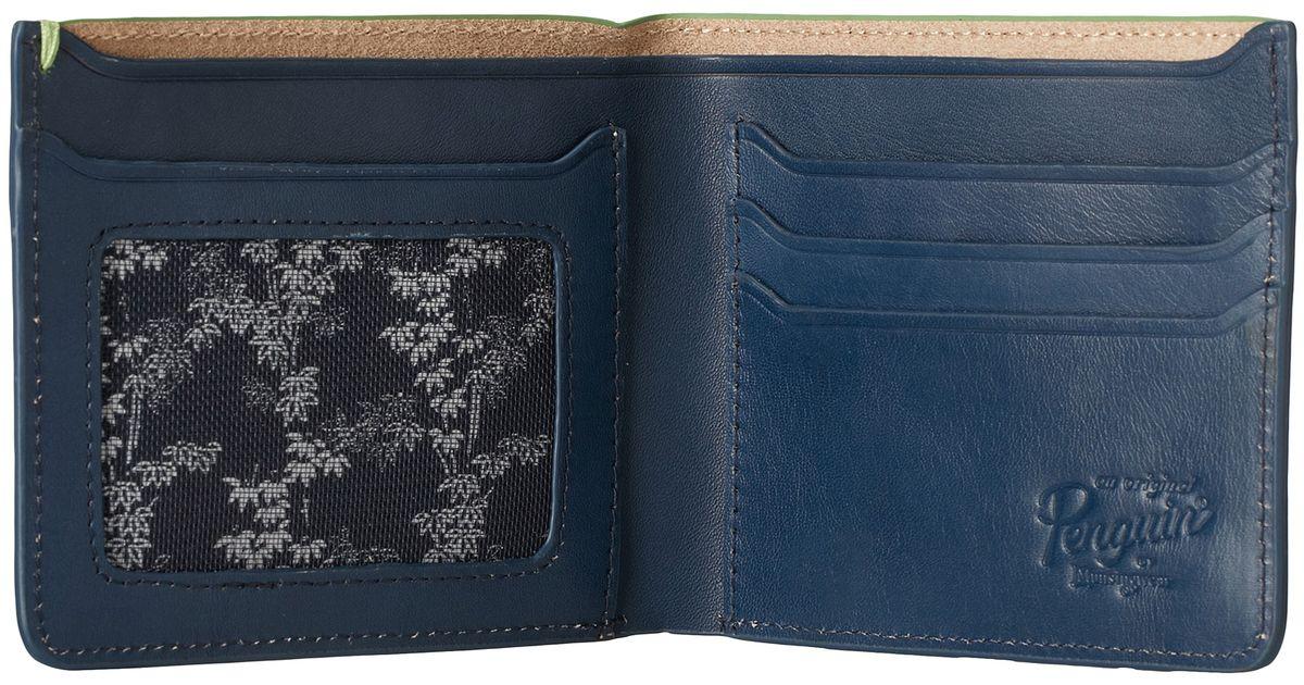 Original Penguin Jimmy Bifold Wallet In Blue For Men Lyst