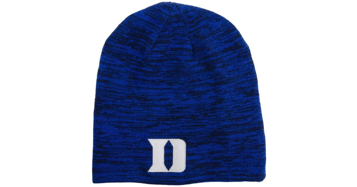 best cheap f2216 02c8a ... reduced lyst nike duke blue devils reversible beanie knit hat for men  c277f 3ed6a