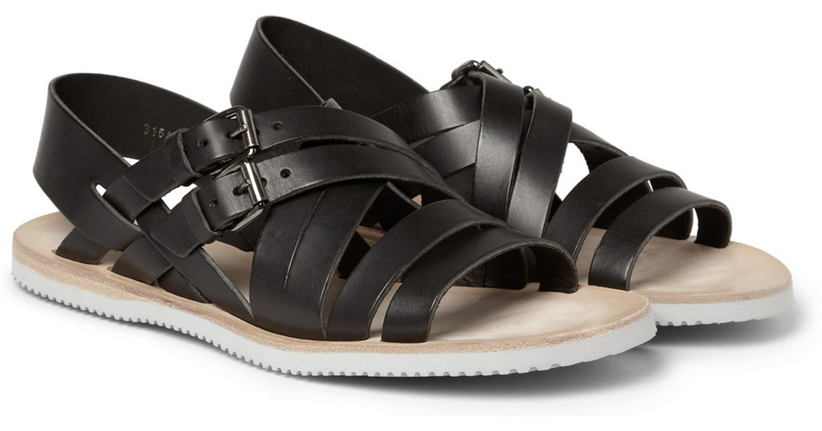 63b9a2c5 Rubbersoled Vibram Mcqueen Sandals Black Alexander Leather For In sdhQtCr