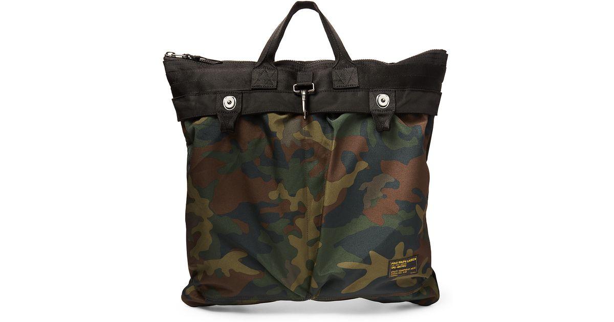 ... ireland lyst polo ralph lauren nylon camouflage helmet bag in green for  men 9459b 7cbca 44ef5ccf2ad86